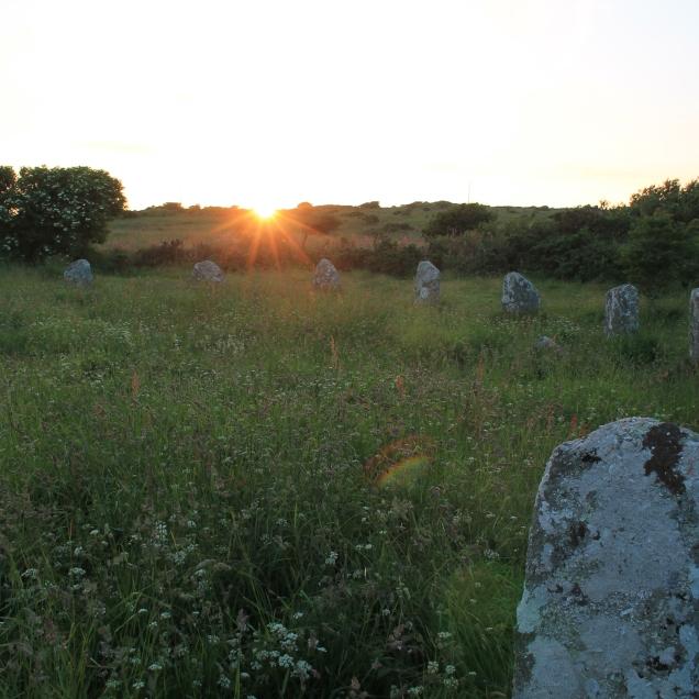Summer Solstice sunset at Boscawen-un