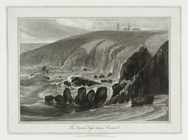 The Lizard Light-houses, Cornwall null by William Daniell 1769-1837